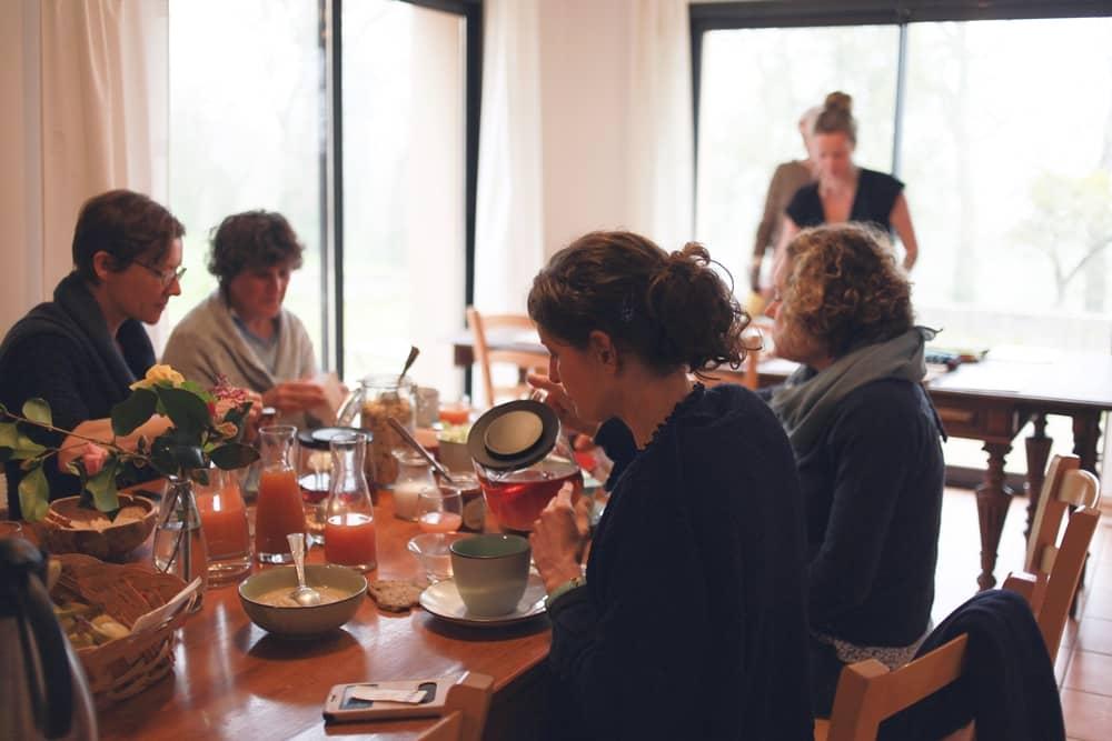 Petit-déjeuner en demi-pension à la Hulotte