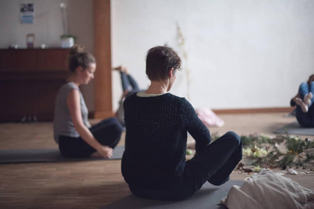 Séance de Yoga au gîte La Hulotte